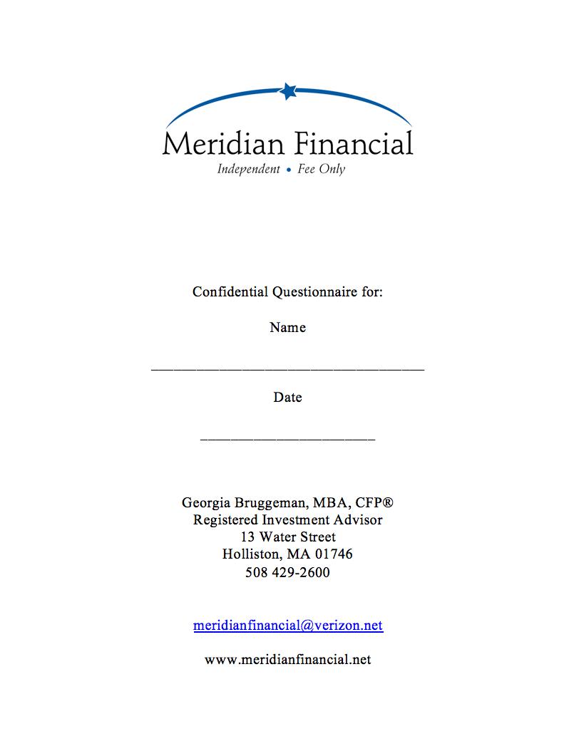 Information Form Meridian Financial Advisors
